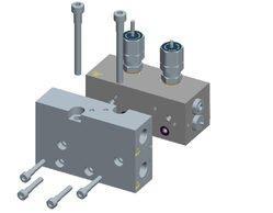 4/2 - ходовий модульний гідравлічний розподільний клапан